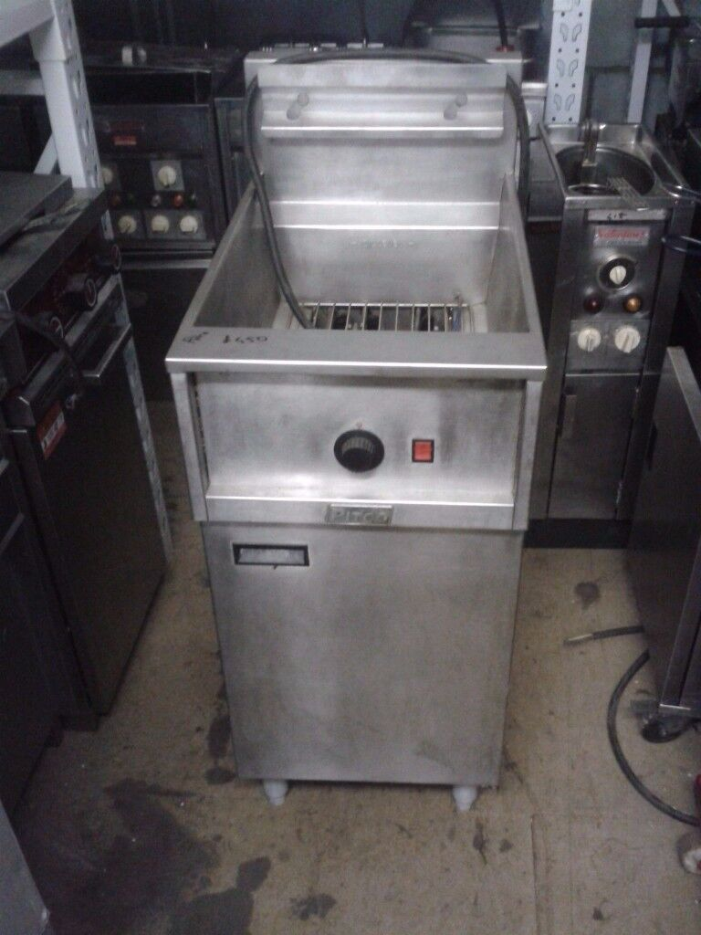 CAFE RESTAURANT TAKEAWAY Pitco Electric Fryer Single Phase Electric Double Basket Free Standing