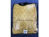 New with carry bag - mustard colour cellular blanket