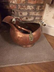 Copper coal bucket