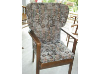 comfortable Arm Chair Wing back Fireside Solid wood frame