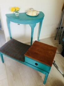 Shabby Chic Trio - TV table, coffee table and mirror