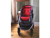 Mountain Buggy Maxi Cosi Cosmopolitan Pushchair + footmuff & Cabriofix Car Seat-very good condition