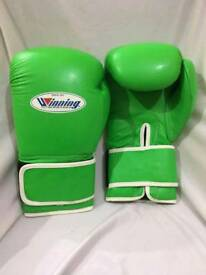 New winning leather boxing gloves 16/oz