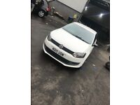 Vw polo white very nice car low millage brilliant first car