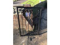 800mm wide steel gate