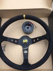 OMP Steering wheel & Japspeed steering boss