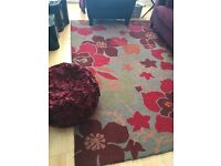 Rug and pouffe for sale