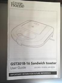 George @ Asda sandwich toaster
