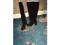 "For Sale - ""Next"" Block Heel Knee High Boots Size 6 ** Never Worn **"