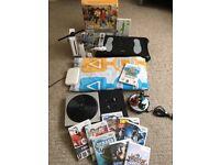 MASSIVE BUNDLE - Nintendo Wii Console + 10 Games + Fit Board + Skylanders + More