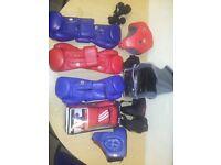 Adidas aba gloves and head gaurds £220