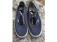 Navy blue vans, never worn