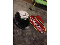 Motorbike helmet excellent condition hardly used