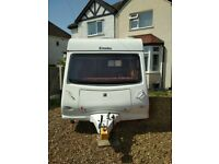 Elddis Xplore 302 lightweight 2 berth caravan 2010 model, modern interior., bathroom and accessories
