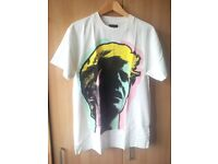 David Bowie short sleeve t-shirt - Duffer of St. George - Size M - White