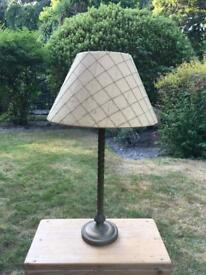 Laura Ashley gold patterned shade with bronze base