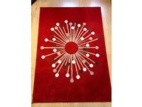 Red patterned rug