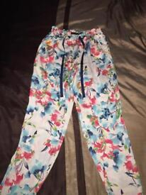 Floral patterned Zara trousers size M