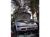 2002 VW GOLF MK4 16V PETROL BREAKING FOR PARTS