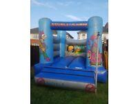Bouncy castle Blue good condition