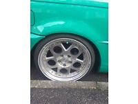 5x120 alloy wheels x4 dished aftermarket BMW/VW bargain!!