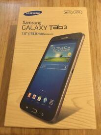Samsung Galaxy Tab 3 SM-T210 8GB, Wi-Fi, 7in - Black Brand New Sealed in Box