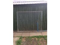 Galvanised dog kennel