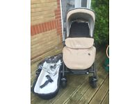 Silver cross pioneer pushchair & carrycot nude colour EXCELLENT CONDITION