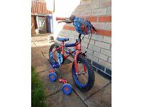 Spiderman Bike 14 inch Used