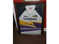 GATESHEAD THUNDER 1990'S AVEC SIGNED FRAMED SHIRT