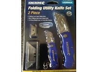 Fold away tool set with spares new.