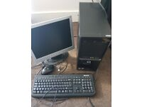 HP Compaq SG3-220UK desktop computer fully working with acer monitor & compatible mouse & keyboard