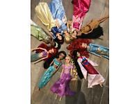 Disney princess dolls x 10