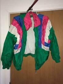 Vintage colourful windbreaker jacket