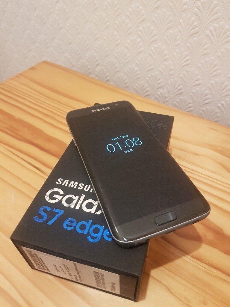 Samsung Galaxy S7 Edge Sm G935 32gb Black Onyx Unlocked Ref