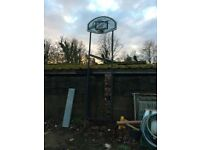 basketball frame with net
