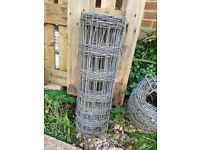 Roll of Galvanised Stock Fencing / Agricultural Wire Netting, 0.8M high.