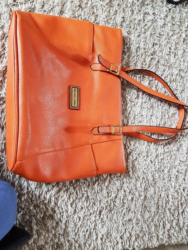 22d0a9410ed051 47933 c2f42; shop michael kors handbag orange used good condition 2ac36  54a14