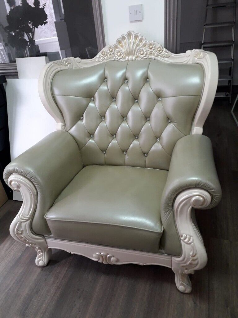 Phenomenal Antique Leather French Style Chair In Walthamstow London Gumtree Squirreltailoven Fun Painted Chair Ideas Images Squirreltailovenorg
