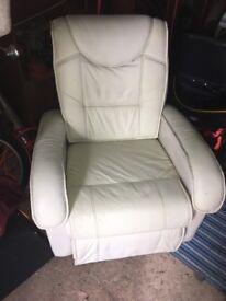 Cream reclining chair