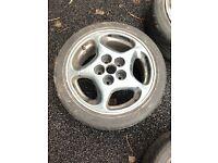 4x Nissan 300ZX OEM alloy wheels in need of restoration 5x114.3 66.1CB