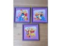 Set of three beautiful Winnie The Pooh and Friends pictures and frames