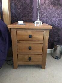 Solid Oak Bedside Cabinets