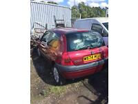 Breaking Renault Clio 1.2 W reg in burgundy. All parts good engine had timing belt fail.