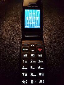 doro primo 140 standard flip phone £25.00