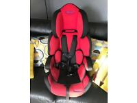 Dimples black & Red car seat 1-2-3 group