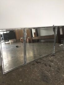 Vintage Industrial Mirror with 2 sides