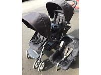 Graco Duo Tandem Pushchairs with Baby Car Sear