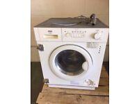 Prima 1200 spin integrated washing machine like new