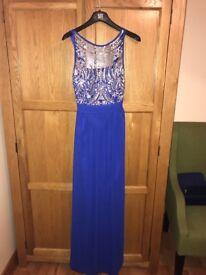 Woman's blue formal dress